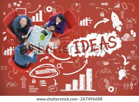 Idea Creative Creativity Imgination Innovate Thinking Concept - stock photo