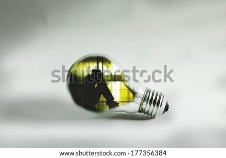 Idea for solve problem. - stock photo