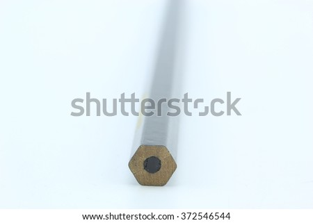 Idea from multicolored pencils isolated on white background. - stock photo