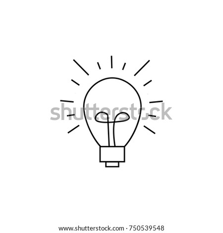 Led Light Bulb Icon Efficient Low 341506169 on single line electrical drawing symbols