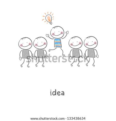 Idea. Illustration. - stock photo