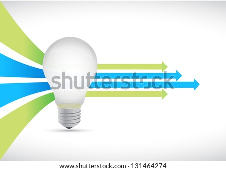 idea light bulb and Colored leader arrows concept illustration design - stock photo