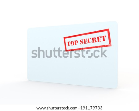 idea or cocept for conficdential data or information sealed in a white envelope on a white background