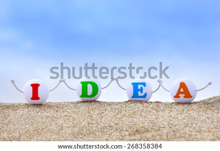 Idea word concept. - stock photo