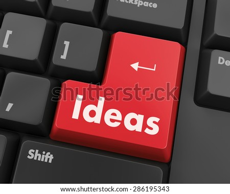 Idea word on keyboard button