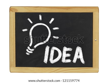 idea written on a blackboard