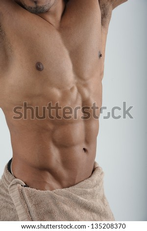 Ideal male stomach