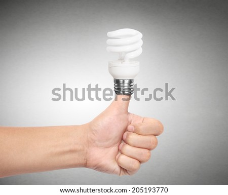 Ideas bulb light on a hand