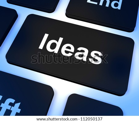Ideas Computer Key Shows Concepts Or Creativity