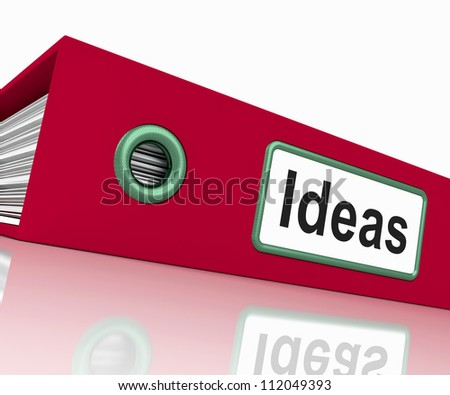 Ideas File Shows Concepts Or Creativity