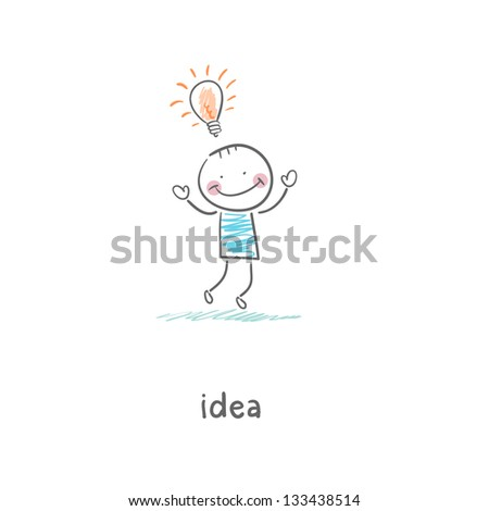 Ideas. Illustration. - stock photo