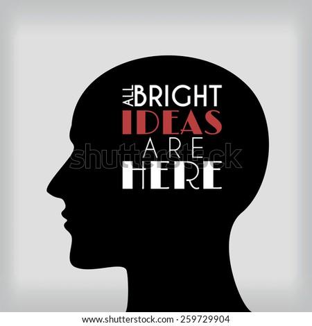 Ideas in head. Raster version - stock photo