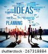 Ideas Innovation Creativity Knowledge Inspiration Vision Concept - stock