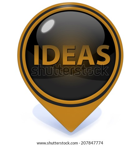 Ideas  pointer icon on white background