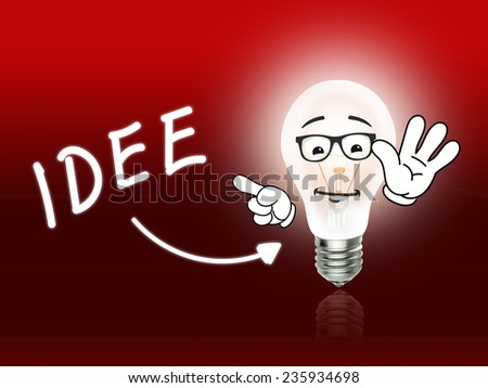 Idee Bulb Lamp Energy Light red Background Idea