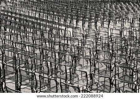 Identical chairs - stock photo