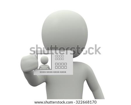Identification - stock photo