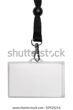 Identity card isolated on white - stock photo