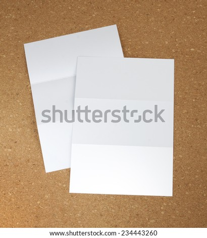 identity design, corporate templates, company style, set of booklets, blank white folding paper flyer - stock photo