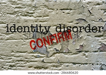 Identity disorder - stock photo