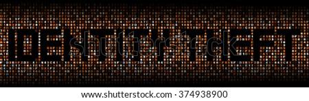 Identity Theft text on hex code illustration - stock photo