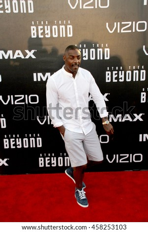 Idris Elba attends at the Star TreK Beyond  premiere during Comic Con on July 20, 2016 at the Embarcadero Marina Park South in San Diego, CA.