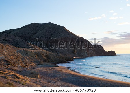Idyllic beach within Cabo de Gata natural park, Spain