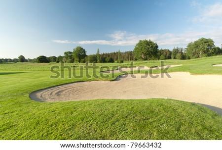 Idyllic golf course - stock photo