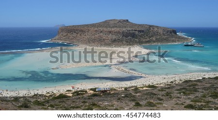 Idyllic Gramvousa and Balos Lagoon in Crete, Greece