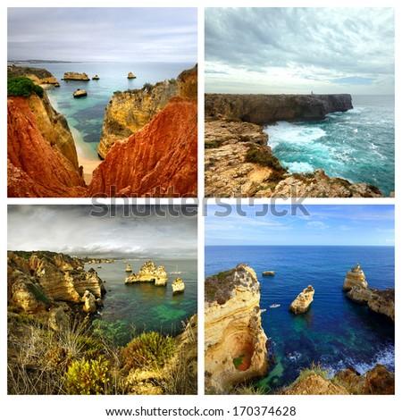 Idyllic landscape at Lagos, Algarve. Portugal  - stock photo