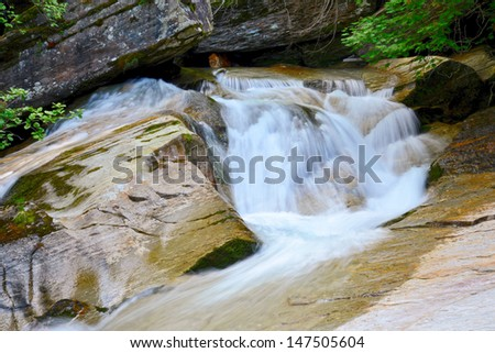 idyllic mountain stream - stock photo