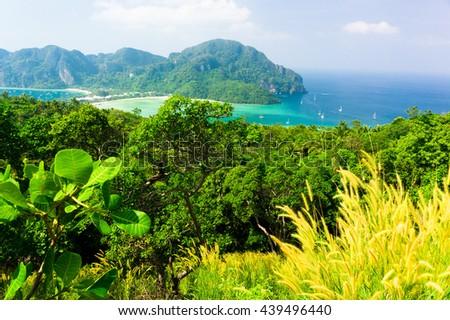 Idyllic Panorama Exotic Backdrop  - stock photo