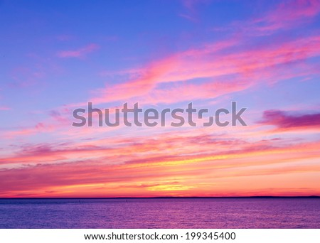 Idyllic Wallpaper Evening Scene  - stock photo