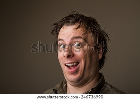 If you like it smile about it. - stock photo