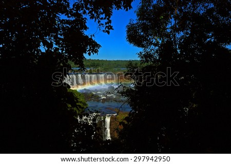 igaussu falls - iguazu falls - iguaçu falls - stock photo