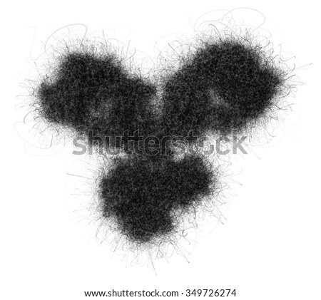 IgG1 monoclonal antibody (immunoglobulin). Many biotech drugs are antibodies. Stylized image (pencil drawing style). - stock photo