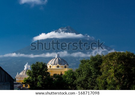 Iglesia de la Merced Antigua Guatemala - stock photo