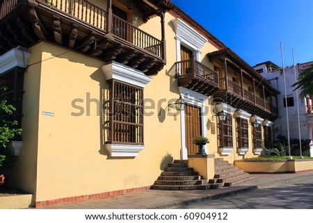 Iglesia de Nuestra Senora de los del Carmen, House where Castro lived in Santiago de Cuba, Cuba - stock photo