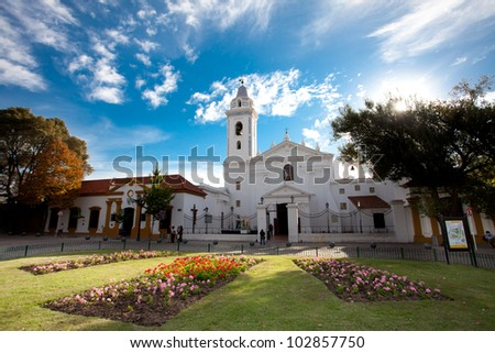 Iglesia Pilar Church in Buenos Aires Argentina - stock photo