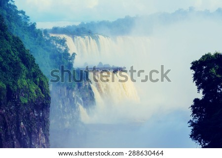 Iguassu Falls,instagram filter - stock photo