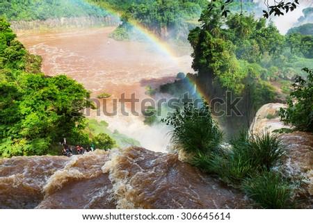 Iguassu Falls,instagram filter - stock photo