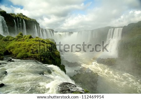 Iguasu Falls (Cataratas) - stock photo