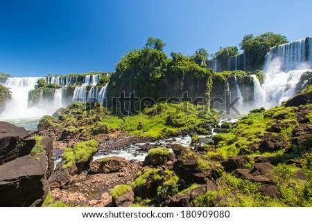Iguazu falls, Argentina - stock photo