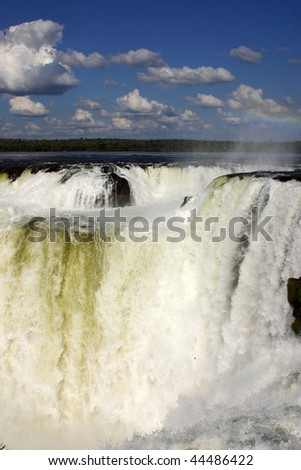 Iguazu Falls, at the border of Argentine and Brasil, Southamerica.