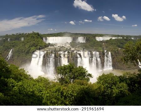 Iguazu Falls from the brazilian side - stock photo