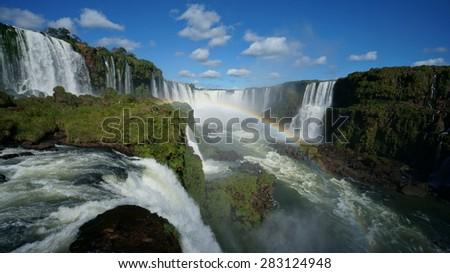 Iguazu waterfall - stock photo