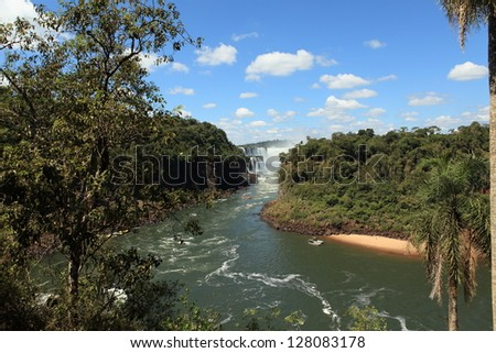 Iguazu Waterfall Argentina - stock photo