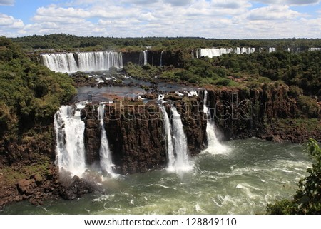 Iguazu Waterfall Brazil - stock photo