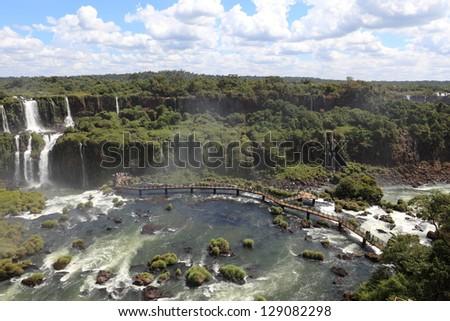 Iguazu Waterfall Brazil - stock photo