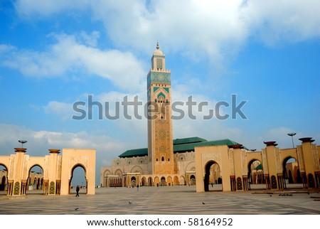 II. Hassan Mosque, Casablanca, Morocco - stock photo